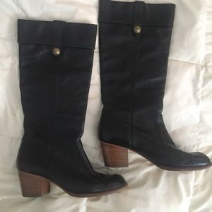 COACH Black Leather Knee High Boots size 9